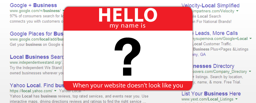 When Your Website Doesn't Look Like You